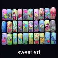 Which Nail Art you will Like to Apply? Which Nail Art you will Like to Apply? Fancy Nails, Cute Nails, Pretty Nails, Nail Art Cupcake, Nail Art Wheel, Fruit Nail Art, Nails For Kids, Painted Nail Art, Latest Nail Art