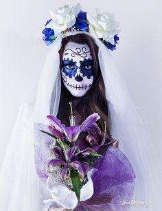 maquillaje Novia catrina mexicana halloween