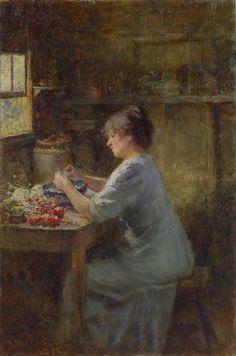 Shelling peas | Frederick McCUBBIN | NGV | View Work