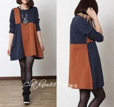 green orange Loose Fitting Soft Cotton Long Shirt by clothnew88, $52.99