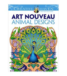 With a beautiful collection of imaginative and highly detailed illustrations, the Dover Creative Haven Art Nouveau Animal Designs is great for experienced colorists. This coloring book features 31 uni
