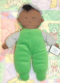 Velour 'Black Boy' Lovey Doll