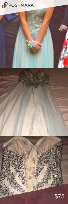 Light blue prom dress Only worn once! Brand: glamour by Terani couture. Size:2. Perfect condition. Dresses Prom