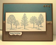 Navy/Espresso Trees by arlybeans - Cards and Paper Crafts at Splitcoaststampers