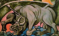 PICASSO Pablo - Dying bull - 1934