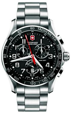 9eae8dca47a Victorinox Swiss Army Mens Chronograph Classic XLS Stainless Steel and