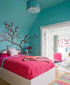 "Ideas For Teen Bedrooms purple paradise"" tween girl bedroom moodboard 