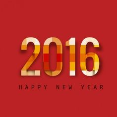 Colorful New year 2016 background