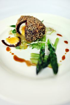 Mmmmm... Galloping Gourmet Smoked bacon scotch egg #starter #WeddingFood #gallopinggourmet @GGWeddings