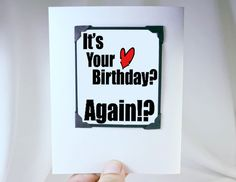 Birthday Card  Funny Birthday Card with Gift by katndrewcards, $5.00