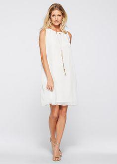 66b119316f72 Šaty s doplňkem bílá - Žena - BODYFLIRT boutique - bonprix.cz Chiffon