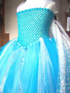 Disney Frozen Elsa Snow Queen Handmade Costume Tutu Dress and Train 4T 5T | eBay