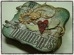 Love, love, love this grungeboard album by Tim Holtz!