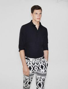 Zara's trousers - just bought & love with Black shirt - just like the look book!