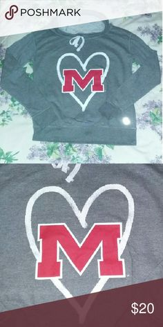 Ole Miss Cowl Neck hoodie Soft on the inside, hoodie.. Gray Ole Miss M with heart details, hoodie.. Great condition, no stains, tears, exc.. Make me an offer or bundle and save.. Sweaters Cowl & Turtlenecks