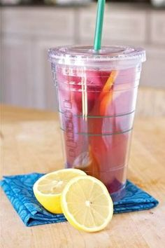 Starbucks Passion Tea Recipe   Ingredients for 1 serving:  8 oz -           Tazo Passion Tea, chilled(1 bag makes 16oz) 1-1/2 Tbsp - Vanilla Simple Syrup 2 oz -            Lemonade ( or 1/2 Lemon + 1 ounce Simple Syrup) 1 cup            Crushed Ice