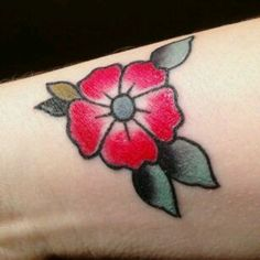 Forget me not flower tattoo american traditional color tattoo old school