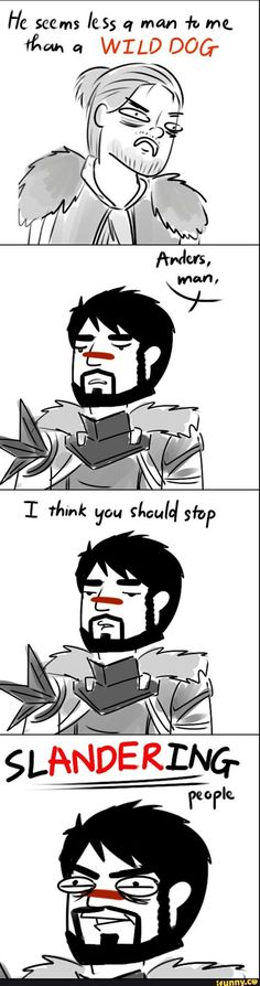 Oh Jesus Dragon Age and puns? I'm in heaven
