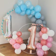 "43 Likes, 5 Comments - Bertie (@bertiesballoons) on Instagram: "" Balloon Wreaths Introducing our new balloon wreath hoop! Perfect for a first birthday or a cake…"""