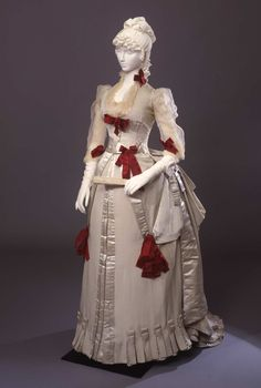 Fripperies and Fobs Worth evening dress ca. 1884  From the Galleria del Costume di Palazzo Pitti via Europeana Fashion
