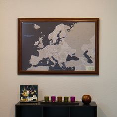 Our earth toned world map is a modern map for modern lives with earth tone europe travel map with pins gumiabroncs Gallery