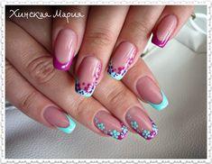 30 Granite Nail Art Designs You Will Like Colorful Nail Designs, Beautiful Nail Designs, Nail Art Designs, Cute Acrylic Nails, Cute Nails, Pretty Nails, Spring Nail Art, Spring Nails, Purple Nail Art