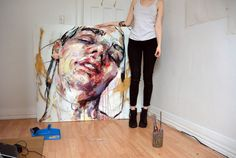 The first large painting I've done in my new studio.