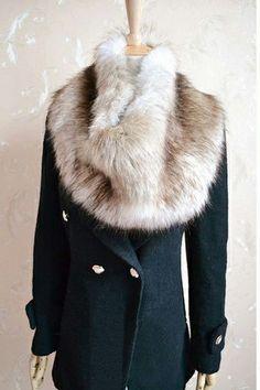 Faux Fur Lapel Collar_Scarves/False Collar_CLOTHING_Voguec Shop