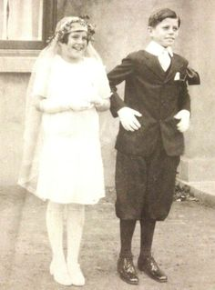 Rosemary and Jack on the day of their Confirmation, Riverdale, New York, April 1928