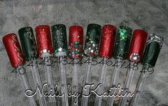 Custom Christmas Artificial Nail Art by KaitlinsKreationsart, $28.00