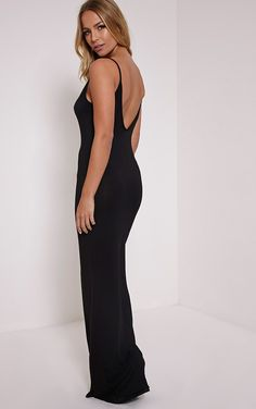 Black Scoop Back Maxi Dress Go cool and casual this season with this beaut maxi dress. With a sc...