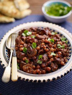 Home Meridian Recipes Lamb and Date Tagine Vegan Recipes, Uk Recipes, Free Food, Lamb, Slow Cooker, Recipies, Good Food, Favorite Recipes, Beef