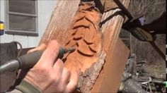 Wood Carving - Power Carving - YouTube