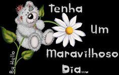 orkut e hi5, Bom Dia, koala, flor, glitter, recados para orkut