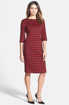 Pink Tartan Houndstooth Sheath Dress is on sale now for - 25 % ! is on sale now for - 25 % !