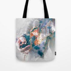 Guitar Tote Bag by jkdizajn Buy Guitar, Ted, Reusable Tote Bags, Stuff To Buy