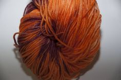 Hand-Dyed Campfire Colourway 4 ply Yarn Polwarth Snuggly Base by KnitterScarlet on Etsy