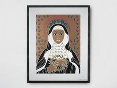 Paper Poster SAINT RITA by TuttiSanti design FF3300 - Visual arts