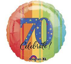 "Celebrate 70, 18"" Balloon from burton + BURTON."