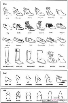 Fashion infographic: shoes Informations About 25 + › Mode-Infografik: Schuhe Pi