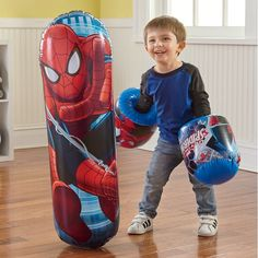 Spider-Man Bop Bag with Bop Gloves Baby Doll Nursery, Baby Girl Toys, Toys For Girls, Kids Toys, Banzai Water Slide, Marvel Store, 17 Kpop, Hedgehog Craft, Captain America Costume