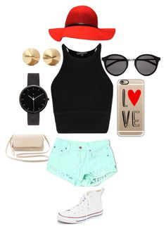 My style by jordy04 on Polyvore featuring polyvore, fashion, style, Carmar, Converse, Charlotte Russe, I Love Ugly, Eddie Borgo, Casetify, Yves Saint Laurent, women's clothing, women's fashion, women, female, woman, misses and juniors