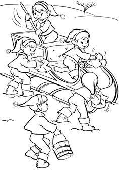 pictures activity of christmas elves coloring pages christmas coloring pages kidsdrawing free coloring