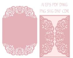 5x5 Floral Gate-fold Wedding Invitation by NarisariDigitalArt