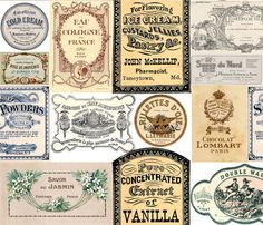 Vintage Labels 2 fabric by victoriagolden on Spoonflower - custom fabric