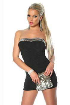Pailletten Minikleid SW-12883 - My-Kleidung Onlineshop