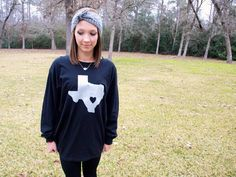 Glitter Texas Long Sleeve Tee - Silver by TexasSweetTees on Etsy https://www.etsy.com/listing/219555980/glitter-texas-long-sleeve-tee-silver