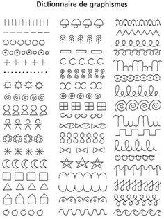 Doodle Patterns, Line Patterns, Zentangle Patterns, Doodle Art Drawing, Mandala Drawing, French Alphabet, Mandala Art Lesson, Preschool Writing, Silhouette Art