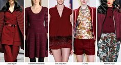 Cranberry: Fall Winter 2014-15 Color Trends from Fashion Snoops