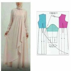 34 Ideas For Sewing Patterns Skirt Easy Source by artiesuharjanto hijab Long Dress Patterns, Skirt Patterns Sewing, Blouse Patterns, Clothing Patterns, Skirt Sewing, Kaftan Pattern, Mode Abaya, Diy Clothes, Clothes For Women